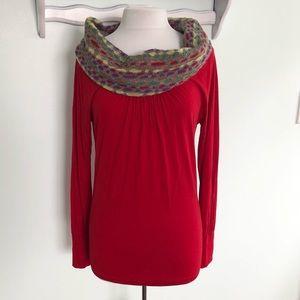 MISSONI M Red viscose cowl sweater neck top